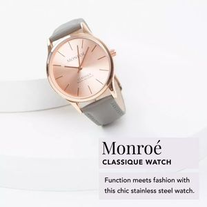 NWOT Monroe Classique Watch in Rose Gold